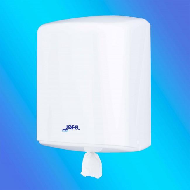 Jofel AG40000 maxi belsőmagos fehér, műanyag papírtörlő adagoló