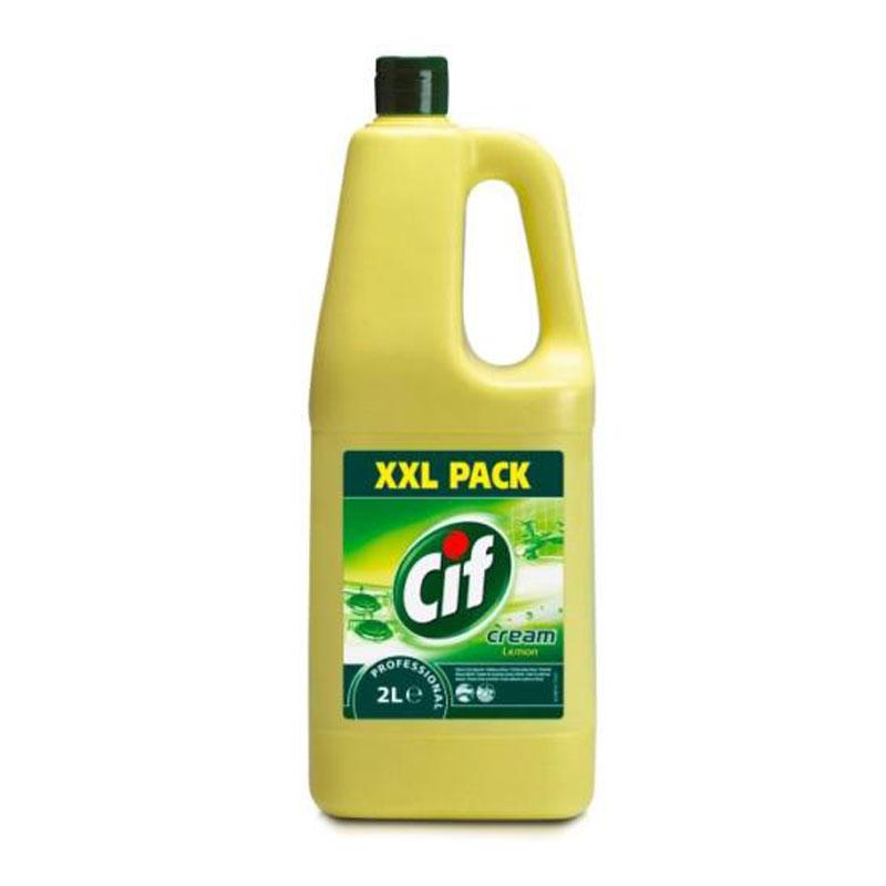 Cif Cream Lemon (sárga) folyékony súrolószer 2 literes