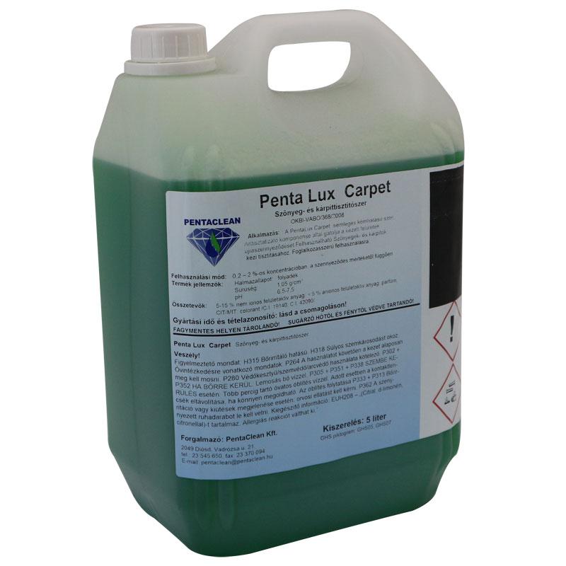 Penta Lux Carpet szőnyeg és kárpittisztítószer 5 literes