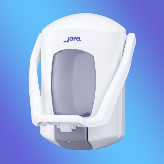 Jofel AC75000 fehér, műanyag, karos, 0,9 literes szappanadagoló