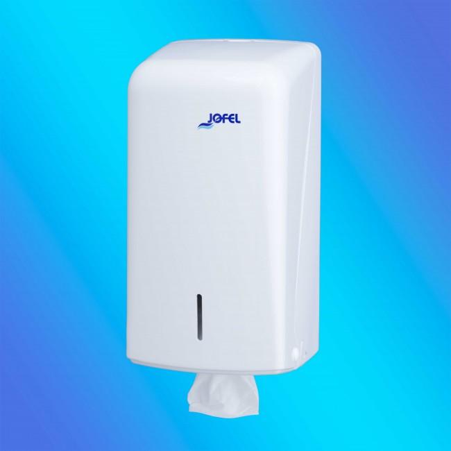 Jofel AH70000 fehér, műanyag hajtogatott toalettpapír adagoló