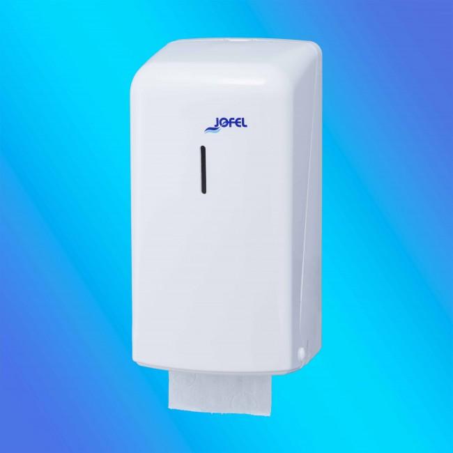 Jofel AF50000, 2 db kistekercses fehér, műanyag toalettpapír adagoló