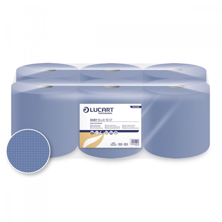 Easy Blue 19 CF, Maxi belsőmagos, 1 rétegű, kék tekercses kéztörlőpapír