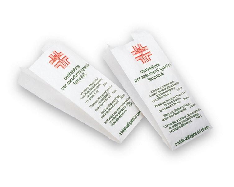 Higiéniai zacskó, papír, 100 db/csomag