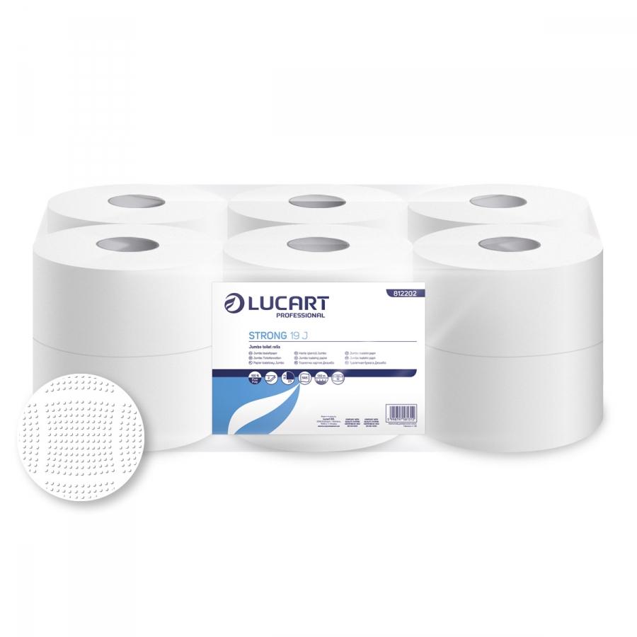 Strong 19 Jumbo,  Mini 2 rétegű 100% cellulózos toalettpapír, 19 cm átm.