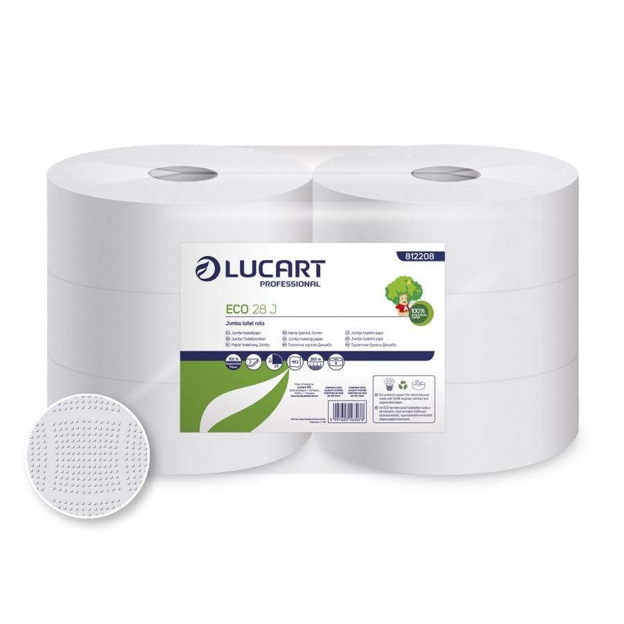 ECO 28 Jumbo, Maxi 2 rétegű 75% fehérségű toalettpapír, 28 cm átm.