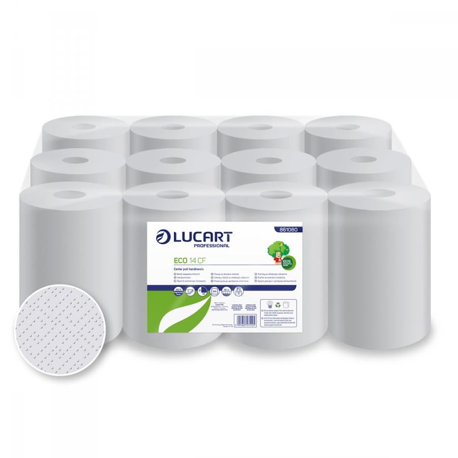 ECO 14 CF, Mini belsőmagos papírtörlő 2 rétegű, 75% fehérségű, 14 cm átm.
