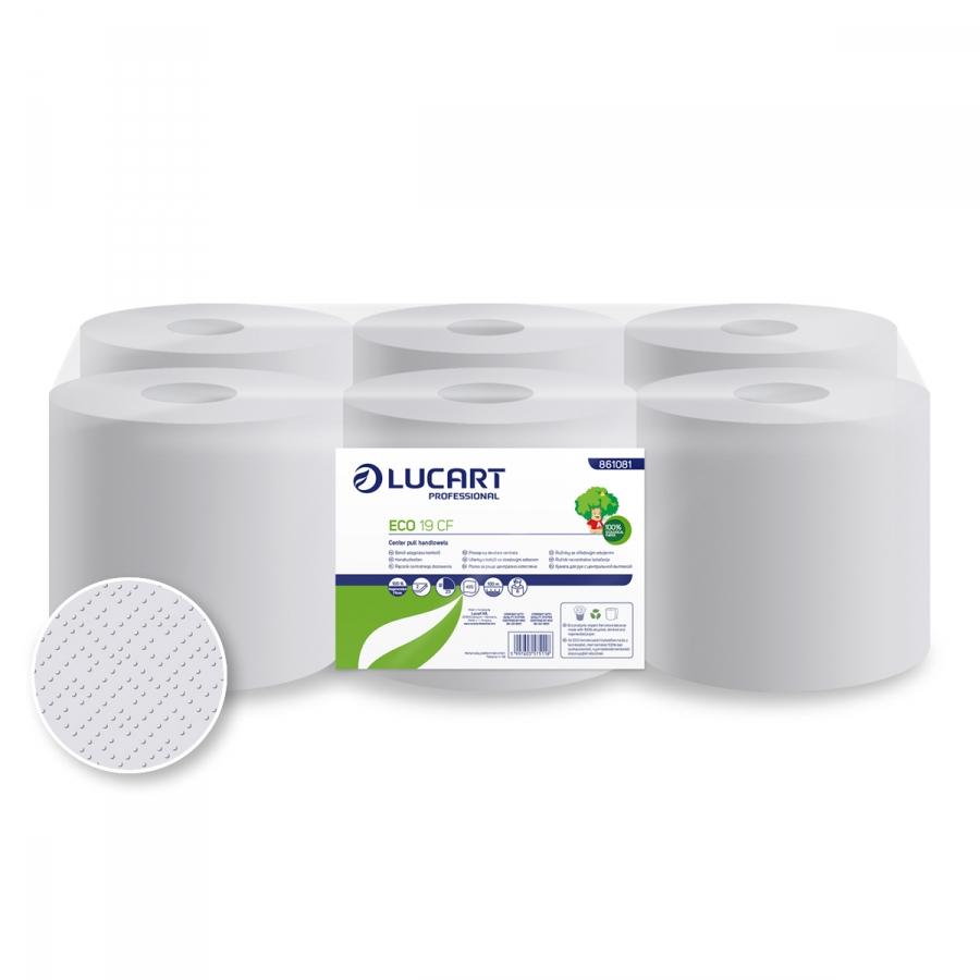 ECO 19 CF,  Maxi belsőmagos papírtörlő, 2 rétegű, 75% fehérségű, 19 cm átm.