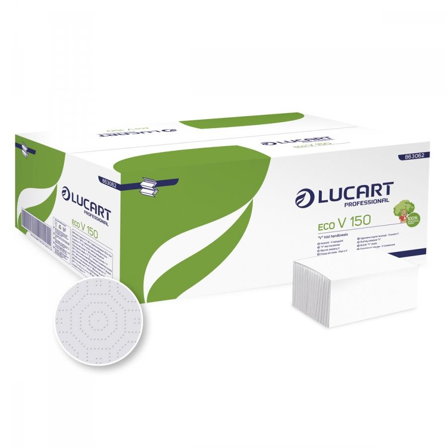 ECO V-150 2 rétegű, 75% fehérségű, 23 x 25 cm hajtogatott kéztörlőpapír
