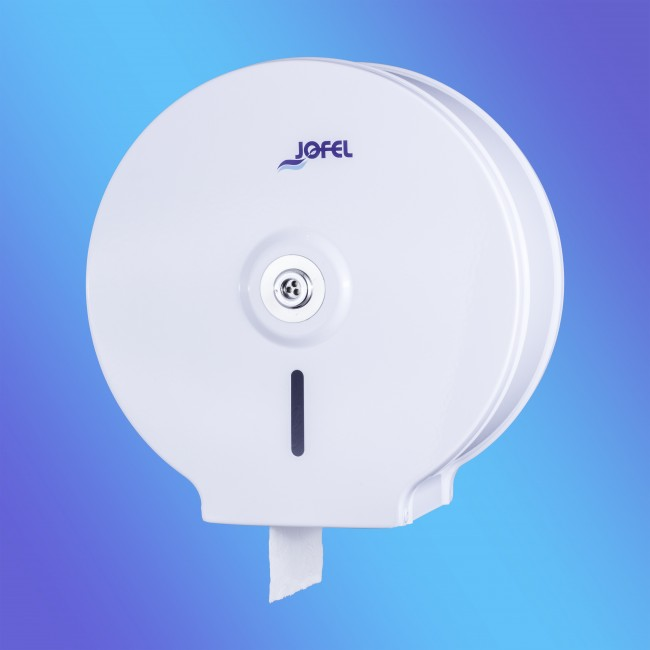 Jofel AE12100 midi, fehér festett fém, toalettpapír adagoló