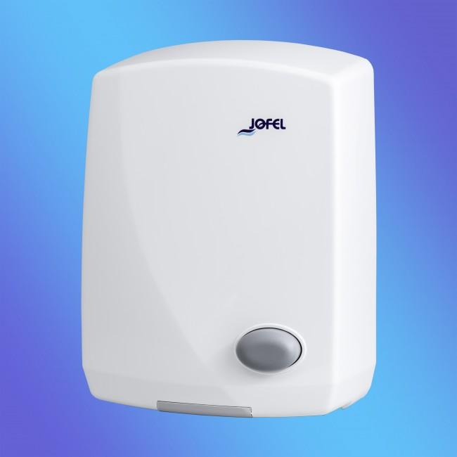 Jofel AA13000 fehér ütésálló műanyag, nyomógombos 2 KW kézszárító (Jelenleg készleten: 2 db)
