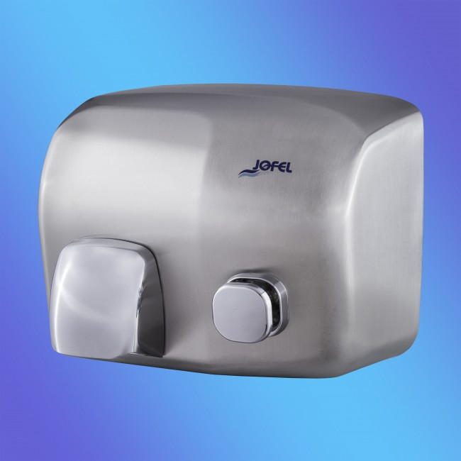 Jofel AA91500 rozsdamentes fém, matt, nyomógombos, 2 KW kézszárító