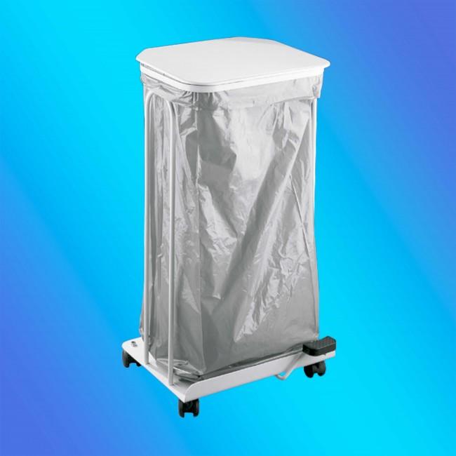 Jofel AL71412 fehér szemetes állvány, gurulós, 120 literes
